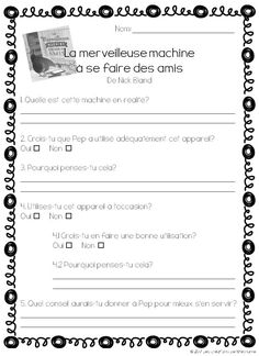 Les créations de Stéphanie : La merveilleuse machine à se faire des amis Core French, French Education, Social Studies Classroom, French Resources, French School, French Immersion, Teaching French, Too Cool For School, French Language