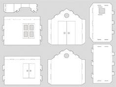 Casa de carton tamaño real Cardboard Paper, Cardboard Crafts, Paper Toys, Barbie Furniture, Dollhouse Furniture, Kids Furniture, Doll House Plans, Laser Cutter Projects, House Template