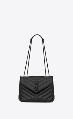"Purchase Loulou Small In Matelassé ""Y"" Leather featured by Saint Laurent in  black. 9d47742caa"