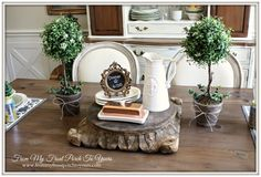 From My Front Porch To Yours- French Farmhouse Dining Room Reveal  I want to make two topiaries like these