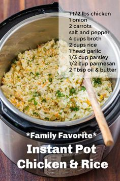 Instant Pot Chicken And Rice Recipe, Chicken Rice Recipes, Easy Chicken And Rice, Ground Chicken Recipes, Easy Rice Recipes, Best Instant Pot Recipe, Instant Pot Dinner Recipes, Easy Dinner Recipes, Easy Meals