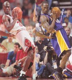 Michael Jordan, Kobe Bryant...mirror image