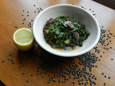 Puy Lentil and cabbage stew