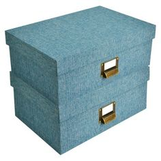 Threshold™ Lidded Box   Set Of 2. Great Stylish Storage. Would Be Good.  Decorative ...