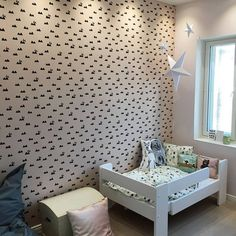 Ferm Living Wallpaper, Kids Wallpaper, Ferm Living Kids, Rabbit Wallpaper, Kids Bedroom, Room Kids, Modern Room, Kidsroom, Kids Playing