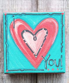 Flaunting high-quality canvas stretched around a wood frame, this charming piece invites loveliness and joy into your home with open arms. Small Canvas Paintings, Mini Canvas Art, Diy Canvas, Canvas Ideas, Painted Canvas, Simple Paintings, Painted Slate, Simple Artwork, Mini Paintings