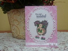 Hedgehog with bouquet of roses birthday card by LuvinItCREATIONS on Etsy