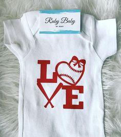eee969a6 Baseball onesie, Love, baby sister,baby fashion, baby clothing, angel, Baby  Onesie