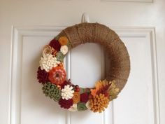 Fall Burlap Wreath