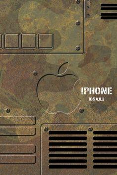 Apple 迷彩 模様の壁紙