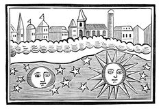 The sun, moon, stars, and earth transposed. The World Turned Upside Down (18th century)   woodcuts