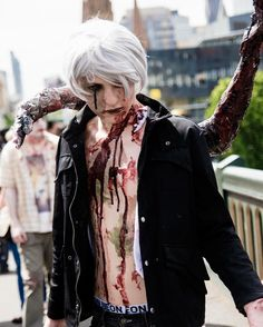 #tbt to still one of my favourite cosplays ever my zombie Kaneki cosplay form the 2015 zombie walk. . . . . #cosplay #costume #cosplayer #cosplayboy #anime #animeboy #animecosplay #ausanime #auscosplay #australiancosplay #melbourne #melbcosplay #melbournecosplay #otaku #tokyoghoul #tokyoghoulcosplay #zombie #zombiewalk #zombiecostume #whitehair #shirtlessguys #contactlens #blood #makeup #kaneki #kanekiken #kanekicosplay #kanekikencosplay #rot