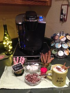 Haha hot chocolate bar with the Keurig!