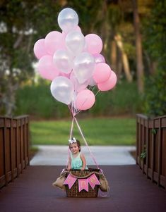ideas for photography kids boys sisters - Birthday Girl Pictures, First Birthday Photos, Baby Girl Birthday, 2nd Birthday, First Birthday Balloons, 1st Birthday Photoshoot, Photography Kids, Balloons Photography, First Birthday Photography
