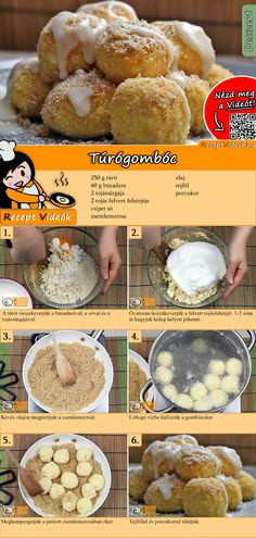 Quarkknödel Delicious quark dumplings, served with sour cream and powdered sugar, are a sweet dessert recipe. The quark dumpling recipe video is easy to find using the QR code :] # Quark dumplings Real Food Recipes, Dessert Recipes, Cooking Recipes, Sweet Recipes, Good Food, Yummy Food, Sports Food, Hungarian Recipes, Albondigas