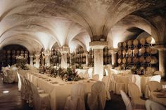 REAL WEDDING / Rustic Opulence in Italy / Photography by Cinzia Bruschini / Historic Church Venue / Ancient beauty / Cellar / Reception Styling / Villa Sparina / Wedding Style Inspiration / The LANE