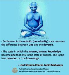 Yogiraj Sri Shyama Charan Lahiri Mahasaya and Kriya yoga: Lahiri . Spiritual Images, Spiritual Quotes, Hindu Quotes, Healing Quotes, Spiritual Health, Religious Quotes, Chakra Meditation, Kundalini Yoga, Pranayama