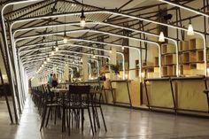 tubes cuivre + panneaux bois (la panacée, Montpellier par 1024 architectures)