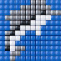 #pixelhobby #pixelen #hobby #creatief #dolfijn Fuse Bead Patterns, Square Patterns, Loom Patterns, Beading Patterns, Cross Stitch Patterns, Quilt Patterns, Love Knitting Patterns, Knitting Charts, Fuse Beads