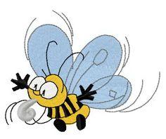 Bee 2 machine embroidery design. Machine embroidery design. www.embroideres.com