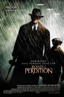 Road to Perdition is a 2002 American crime film directed by Sam Mendes. The screenplay was adapted by David Self, from the graphic novel of the same name by Max Allan Collins. The film stars Tom Hanks, Paul Newman, Jude Law, and Daniel Craig. Jude Law, Paul Newman, Tom Hanks, Mafia, Tyler Hoechlin, See Movie, Film Movie, Movies And Series, Movies And Tv Shows