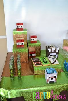 Partylicious: {Minecraft Birthday Party}. For my Fiance's 25th? ;)