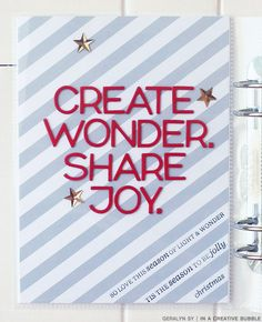 In a Creative Bubble: December Daily cover page
