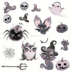 "Halloween Characters Clipart example image 3 Karamfilas' ""Halloween, Please! Whimsical Halloween, Halloween Doll, Halloween Crafts, Halloween Witches, Happy Halloween, Halloween Decorations, Witch Clipart, Halloween Clipart, Girl Clipart"