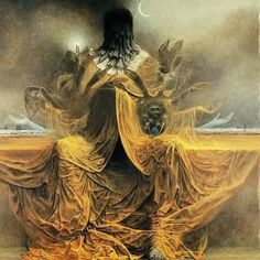 The King in Yellow by Zdzisław Beksiński
