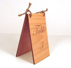 Custom Engraved Wood Table Numbers by memoriesforlifesb on Etsy, $5.00
