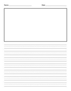 This lined paper is something I made and use all of the time in my classroom. Throughout the year we create class books in response to stories that we read and this is the paper we use. The lined help encourage neat handwriting and the first page includes a box for an illustration.
