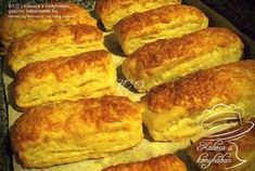 Hungarian Desserts, Hungarian Recipes, Hungarian Food, Snack Recipes, Cooking Recipes, Healthy Recipes, Savory Pastry, Salty Snacks, Fresh Bread