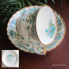 Vintage Royal Albert VERONICA Bone China Tea Cup and Saucer - Made in England