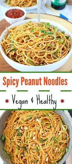 Treat yourself tonight to this speedy yet flavor-packed Vegan Spicy Peanut Noodles. A healthy and satisfying one-pot meal that takes 20 minutes to prepare – that much quicker than a takeout and tastes yum and d-licious!!