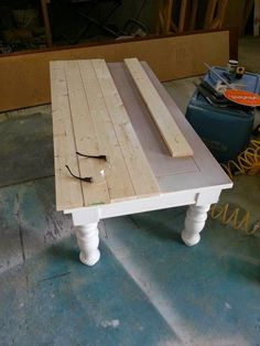DIY: How To Make A Farmhouse Table   Using An Old Table And Stock Lumber,  You Can Easily Transform A Plain Table By Creating A Rustic Tabletop   Via  Nifty ...
