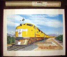 "Union Pacific Streamliner ""City of Los Angeles"" ORIGINAL 1939 poster tube 17x24"""
