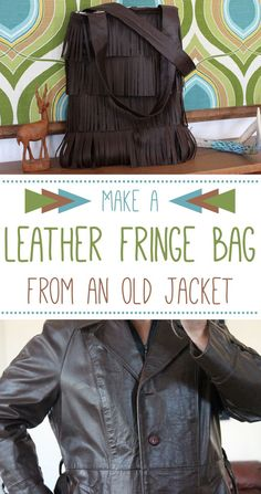 That outdated old leather coat that you don't wear anymore can be upcycled into an amazing, trendy leather bag! Step-by-step tutorial (with photos) can help you make a unique gift: www.ehow.com/...