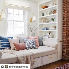 Dreaming of a #nook of my own #saturdayshares  #Repost @refinedcabinetco (@get_repost) ・・・ Build the perfect #readingnook. Or, let's be honest, a great place to take a nap 😴  Photo credit: 📷👉🏻 @jane_athome  Refined Cabinet Co. serving the Charlotte NC area one home at a time.  Ask us about our cabinets!! 👉🏻 refinedcabinetco@gmail.com  Schedule a free in home estimate by contacting us at 👉🏻refinedcabinetco@gmail.com  #cabinet #cabinets #cabinetry #kitchen #pulls #handles…