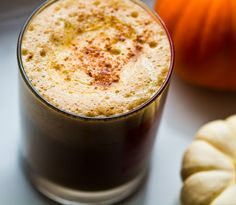 Paleo Pumpkin Spice Latte.... All my favorite words! Could probably also use maple syrup somehow in this recipe...hmmm...