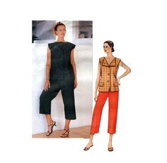 Vogue 2667 ISSEY MIYAKE Top & Pants Tunic Capris Pattern Vogue Designer Original Womens Sewing Patterns UNCuT 34 36 38 Bust, Size 12 14 16