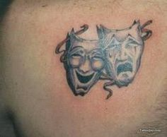 I think this may be my next wrist tattoo! - comedy tragedy tattoo - Google Search