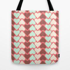 Creamy Hearts  Tote Bag