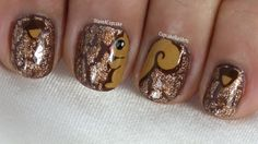 Cute Squirrel Nail Art