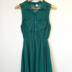 Evergreen Divided Dress Looks cute with a belt or a funky necklace. Cute wedding guest outfit! Divided Dresses Midi