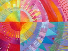 see the various machine quilted line designs by Melody Johnson