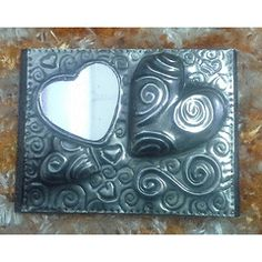 """""""One of a kind"""" hart mirror - Fridge Magnet - Handcrafted Pewter Art by Hanli for R20.00"""