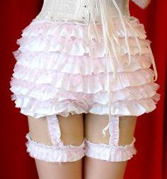 Multiple Ruffles Bows Cotton Lolita Frillies