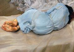 Lucian Freud - Annabel sleeping (1988)