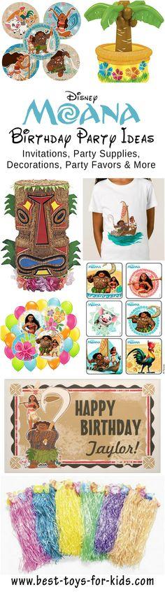 Disney Moana Birthday Party Ideas