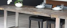 Reclaimed wood & steel dining table. £1,995.00, via Etsy.